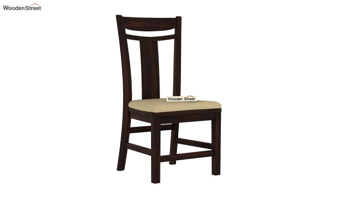 Isadora 4 Seater Round Dining Set (Walnut Finish)-4