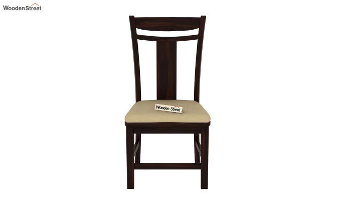 Isadora 4 Seater Round Dining Set (Walnut Finish)-5