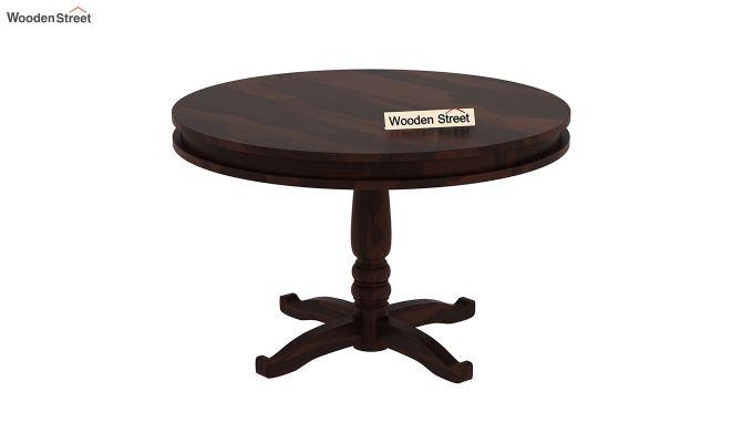 Isadora 4 Seater Round Dining Set (Walnut Finish)-6