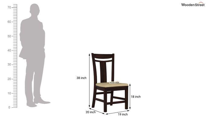 Isadora 4 Seater Round Dining Set (Walnut Finish)-8