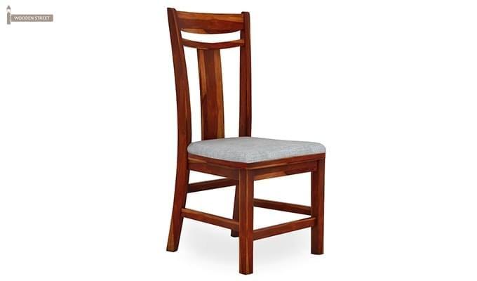 Isadora 4 Seater Round Dining Set (Honey Finish)-3