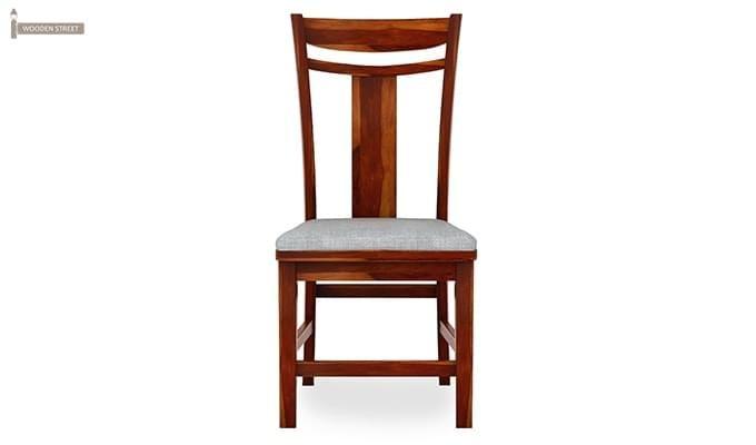 Isadora 4 Seater Round Dining Set (Honey Finish)-4