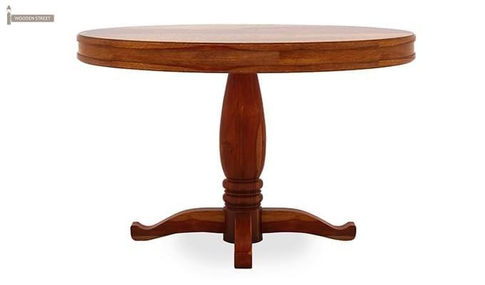 Isadora 4 Seater Round Dining Set (Honey Finish)-6