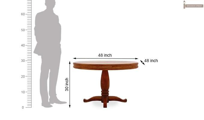 Isadora 4 Seater Round Dining Set (Honey Finish)-8