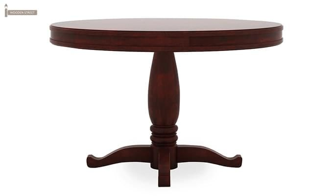 Isadora 4 Seater Round Dining Set (Mahogany Finish)-6
