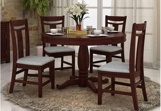 Superieur Round Dining Table Set For 4