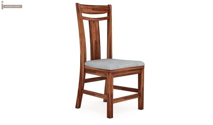 Isadora 4 Seater Round Dining Set (Teak Finish)-6