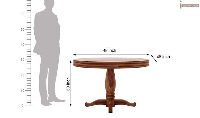 Isadora 4 Seater Round Dining Set (Teak Finish)-7