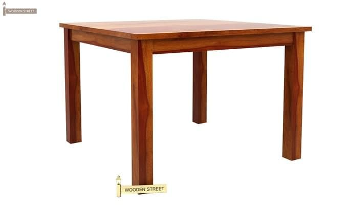 Janet 4 Seater Dining Table Set (Honey Finish)-4