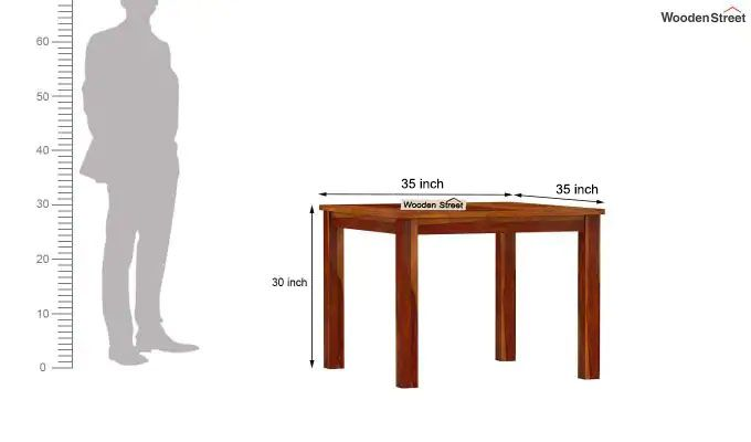 Janet 4 Seater Dining Table Set (Honey Finish)-9