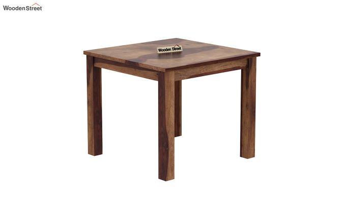 Janet Cushioned 4 Seater Dining Table Set (Teak Finish)-4