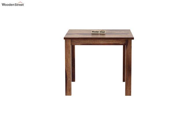 Janet Cushioned 4 Seater Dining Table Set (Teak Finish)-5