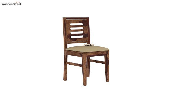 Janet Cushioned 4 Seater Dining Table Set (Teak Finish)-6