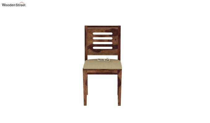 Janet Cushioned 4 Seater Dining Table Set (Teak Finish)-7