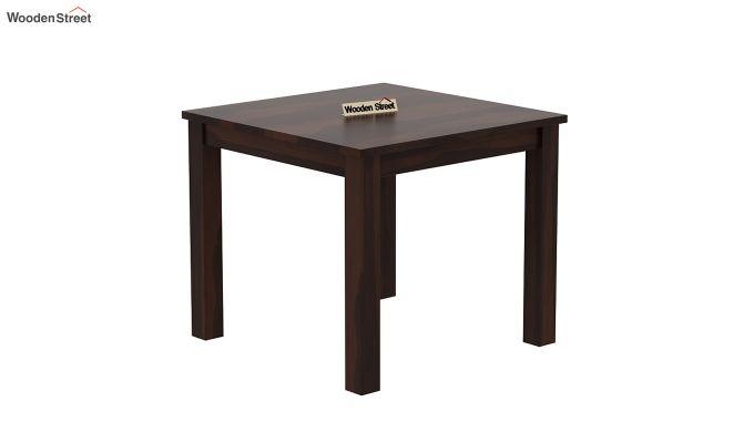 Janet Cushioned 4 Seater Dining Table Set (Walnut Finish)-4