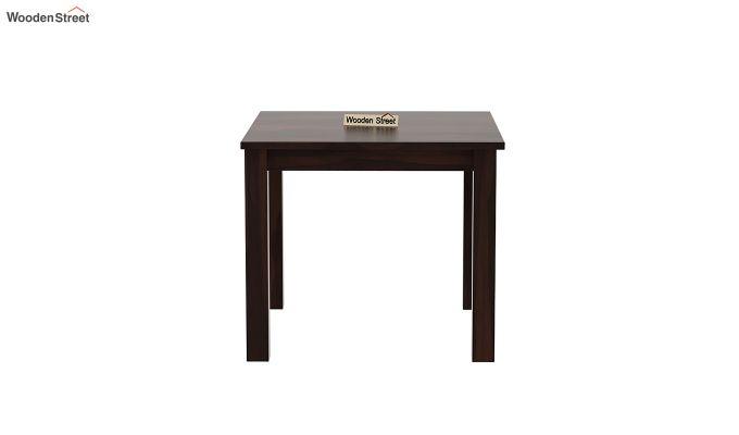 Janet Cushioned 4 Seater Dining Table Set (Walnut Finish)-5