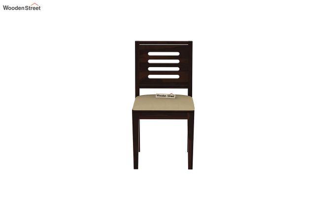 Janet Cushioned 4 Seater Dining Table Set (Walnut Finish)-7