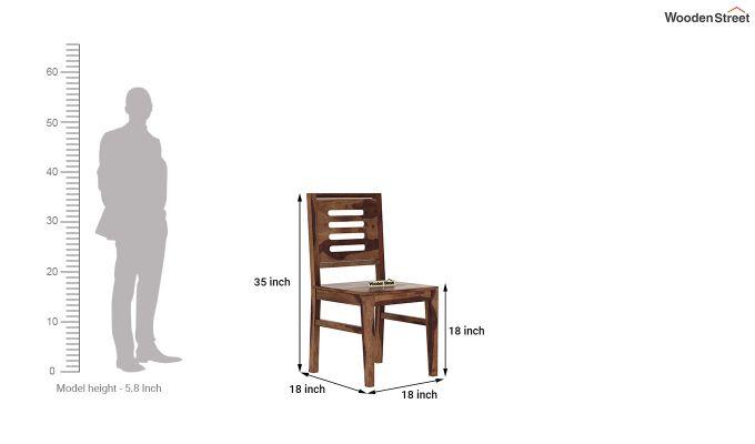 Janet 4 Seater Dining Table Set (Teak Finish)-9