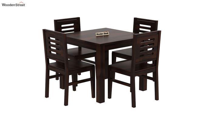 Janet 4 Seater Dining Table Set (Walnut Finish)-2