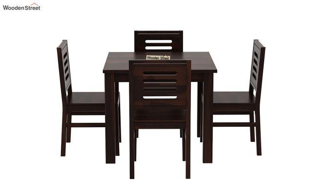 Janet 4 Seater Dining Table Set (Walnut Finish)-3