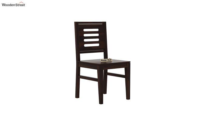 Janet 4 Seater Dining Table Set (Walnut Finish)-6