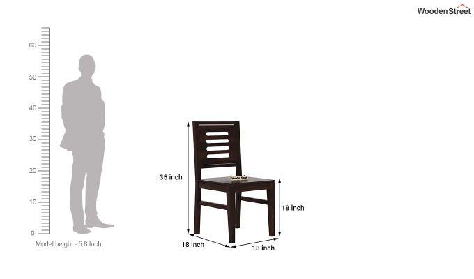 Janet 4 Seater Dining Table Set (Walnut Finish)-9