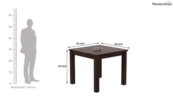 Janet 4 Seater Dining Table Set (Walnut Finish)-8