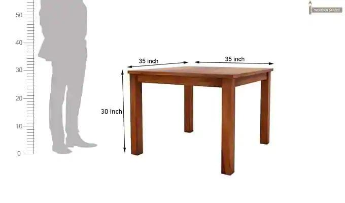 Jeor 4 Seater Dining Set (Honey Finish)-10