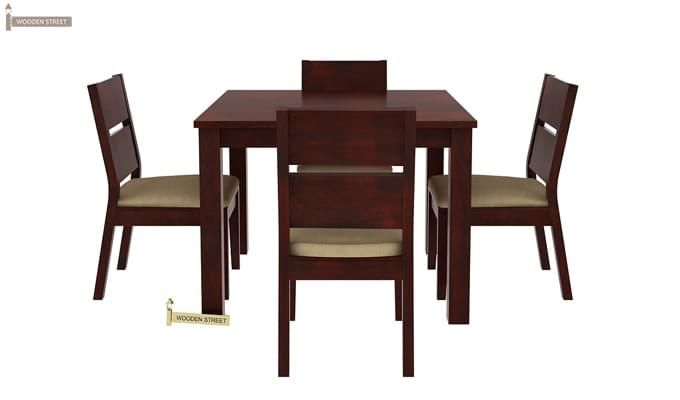 Kietel 4 Seater Dining Set (Mahogany Finish)-4