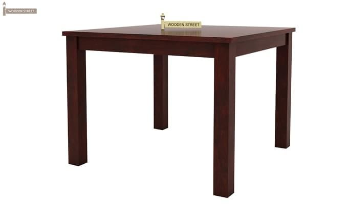 Kietel 4 Seater Dining Set (Mahogany Finish)-6