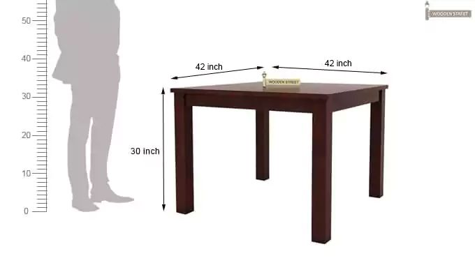 Kietel 4 Seater Dining Set (Mahogany Finish)-11
