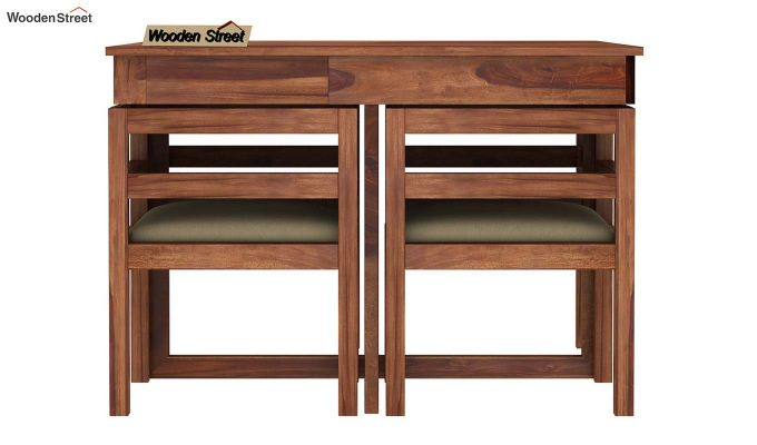 Lawrence 4 Seater Dining Set (Teak Finish)-3