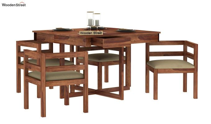 Lawrence 4 Seater Dining Set (Teak Finish)-4