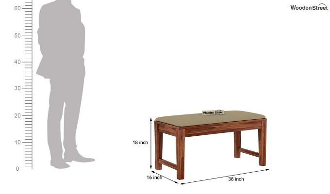 Mcbeth Compact 4 Seater Dining Set with Bench (Teak Finish)-15