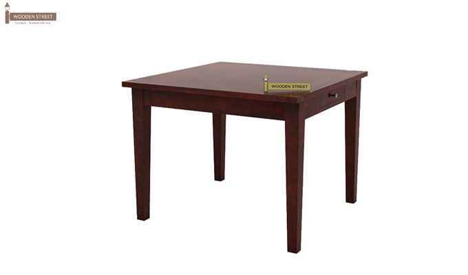 Mcbeth Storage 4 Seater Dining Table Set (Mahogany Finish)-3