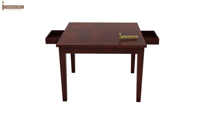 Mcbeth Storage 4 Seater Dining Table Set (Mahogany Finish)-5