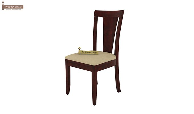 Mcbeth Storage 4 Seater Dining Table Set (Mahogany Finish)-6