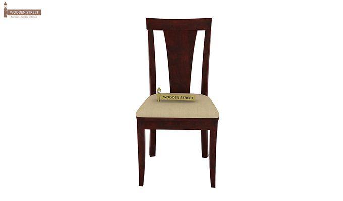 Mcbeth Storage 4 Seater Dining Table Set (Mahogany Finish)-7