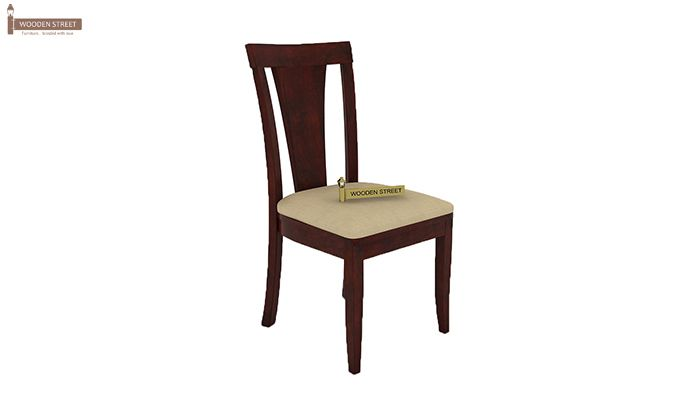 Mcbeth Storage 4 Seater Dining Table Set (Mahogany Finish)-8