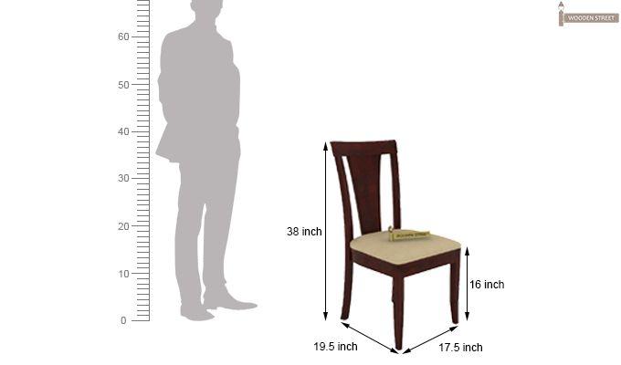 Mcbeth Storage 4 Seater Dining Table Set (Mahogany Finish)-9