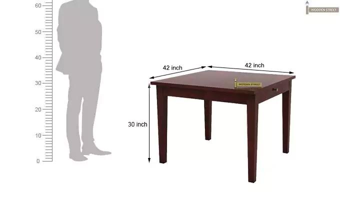 Mcbeth Storage 4 Seater Dining Table Set (Mahogany Finish)-10