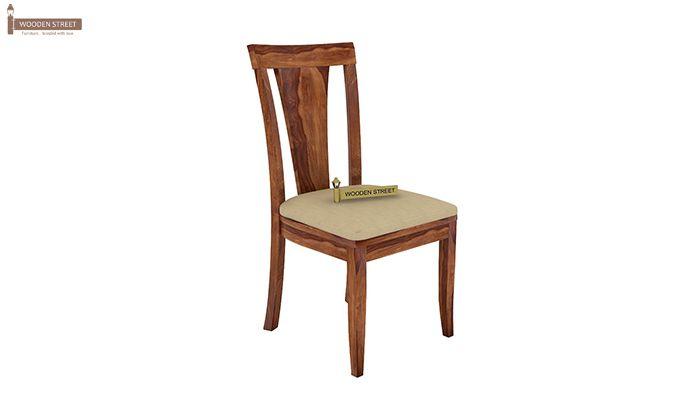 Mcbeth Storage 4 Seater Dining Table Set (Teak Finish)-6