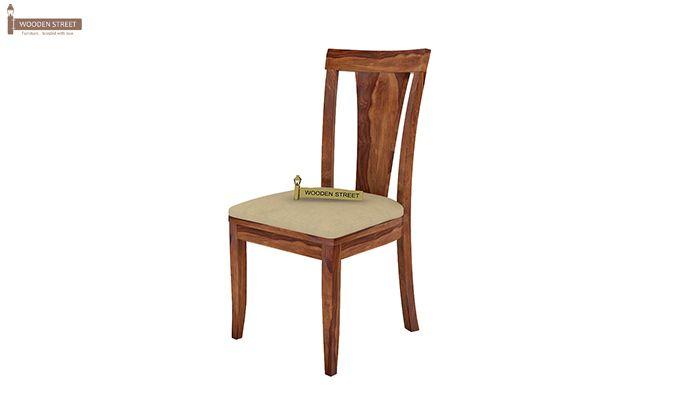 Mcbeth Storage 4 Seater Dining Table Set (Teak Finish)-7