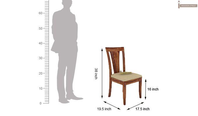 Mcbeth Storage 4 Seater Dining Table Set (Teak Finish)-9