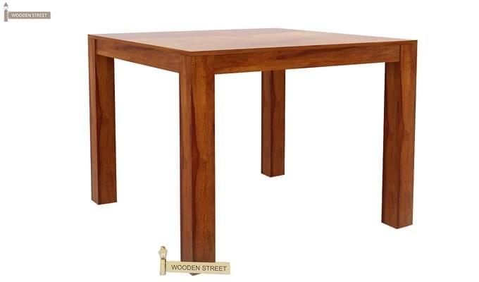 Mckinley 4 Seater Dining Set (Honey Finish)-6