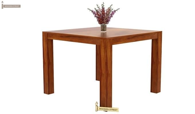 Mckinley 4 Seater Dining Set (Honey Finish)-7