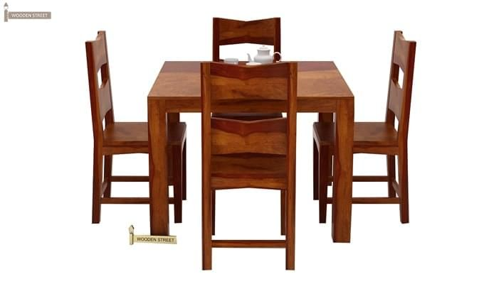 Mckinley 4 Seater Dining Set (Honey Finish)-3