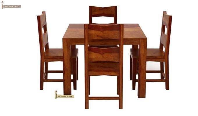Mckinley 4 Seater Dining Set (Honey Finish)-4