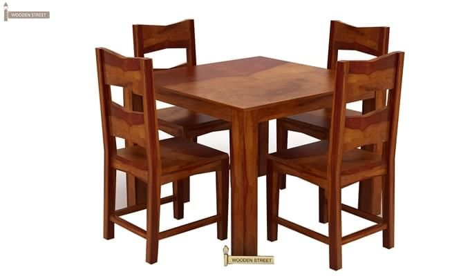 Mckinley 4 Seater Dining Set (Honey Finish)-4