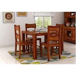 Mckinley 4 Seater Dining Set (Honey Finish)